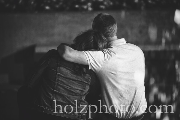 Brittany & Logan B/W Engagement Photos