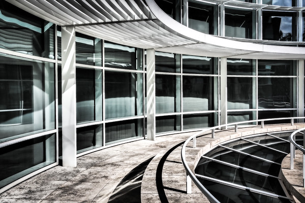 April 26 - Shapes and shadows and lines and curves and lines and reflections and textures, The Getty, Los Angeles.jpg