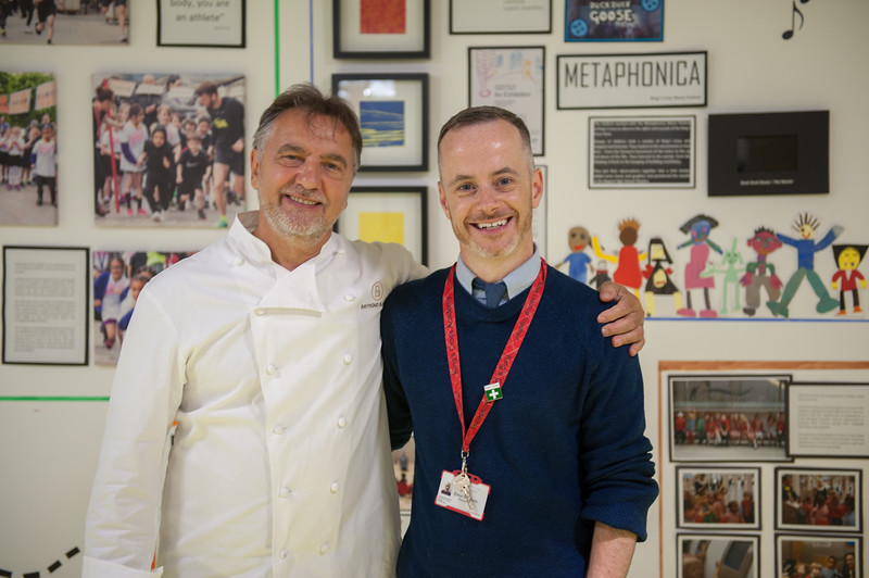 Raymond Blanc visits King's Cross Academy