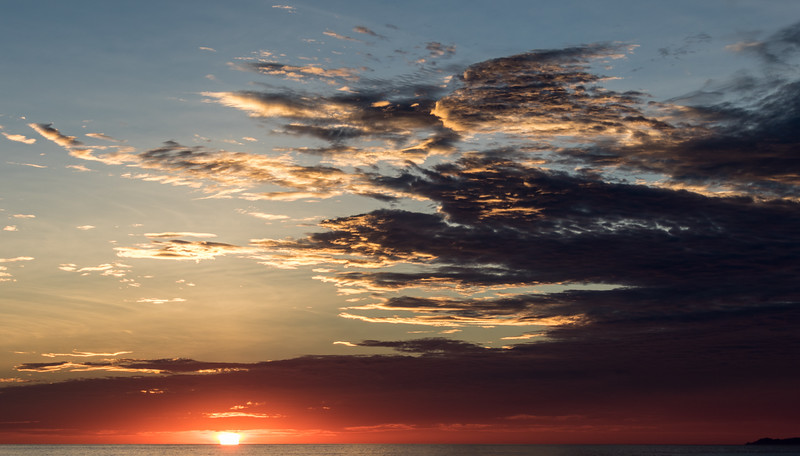 The sun rises above the Pacific Ocean - , , , Mexico (MX)