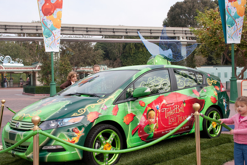 A demo car themed as Tinkerbell. Hybrid or solar? Don't remember now.