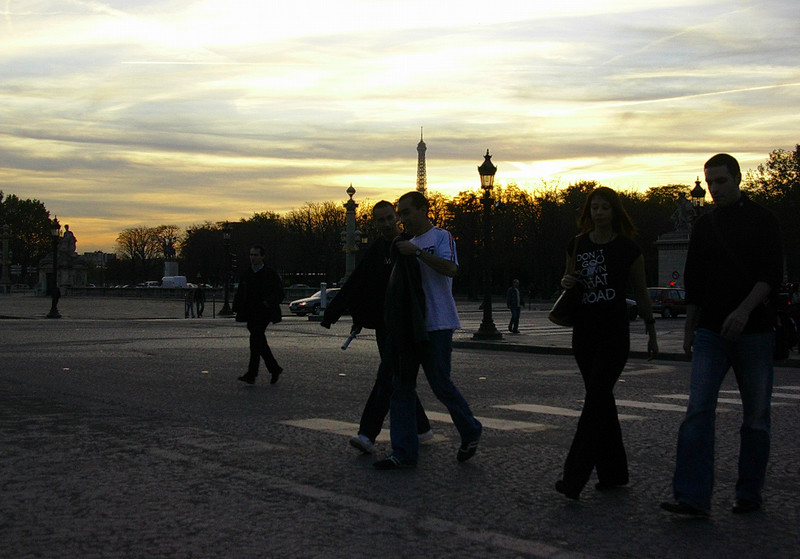 Kveldsstemning på Place de la Concorde (Foto: Ståle)
