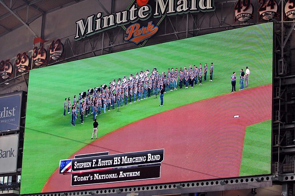 National Anthem at Astros Game