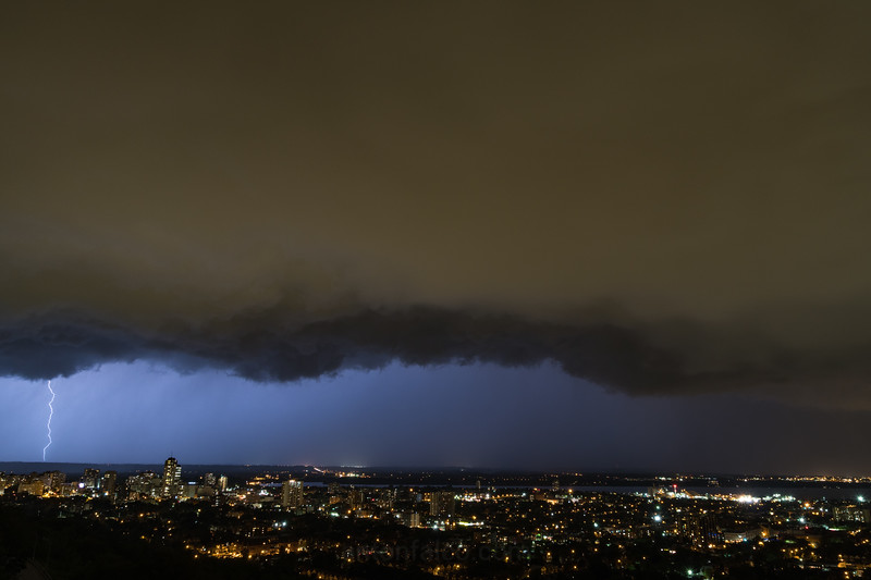 August 11th Shelf Cloud And Lightning