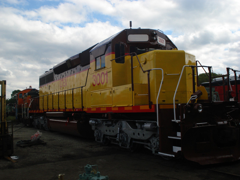 Utah Southern SD40-2 3001, at Larrys Truck Electric on September 9, 2008 prior to delivery.