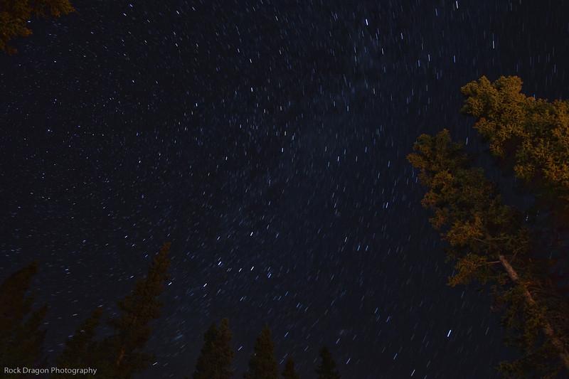 Starry sky, Kananaskis Country, Alberta