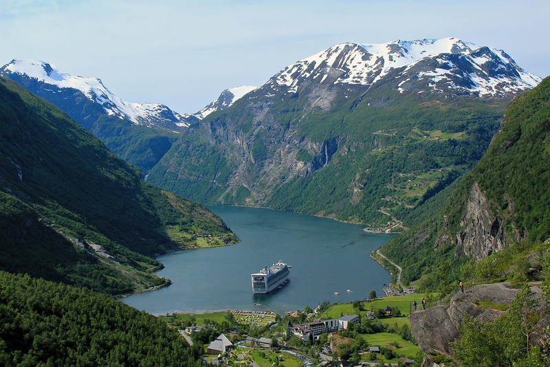 Geirangerfjord. One of the postcard views our tour took us to.