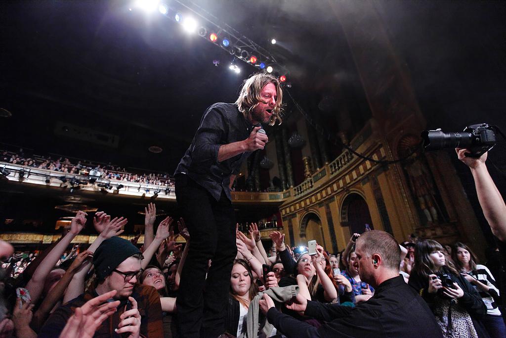 . Jon Foreman of Switchfoot at Fillmore Detroit Thursday night, Dec. 12, 2013. Photo by Ken Settle