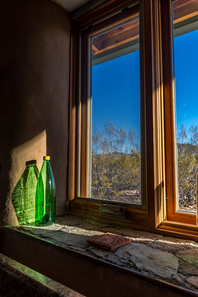Green Bottle and Kitchen Window #2
