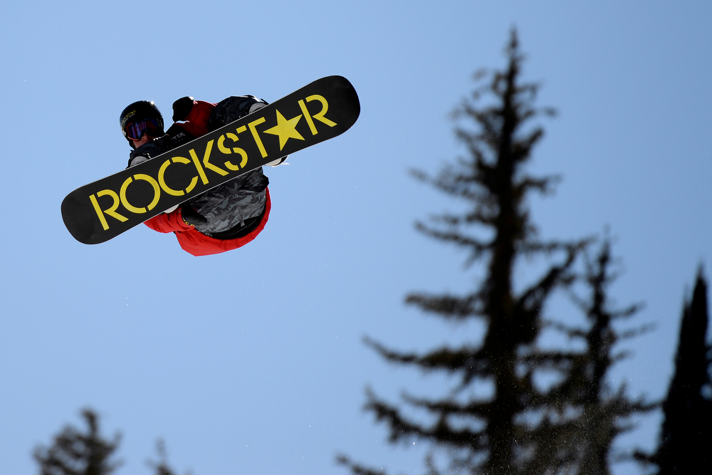 . Chas Guldemond rides during the men\'s snowboard slopestyle eliminator. X Games Aspen at Buttermilk on Thursday, January 23, 2014. (Photo by AAron Ontiveroz/The Denver Post)