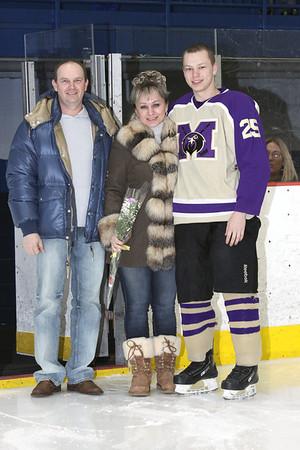 Falcon Ice Hockey Senior Night, vs Hillsborough, Feb 10, 2012