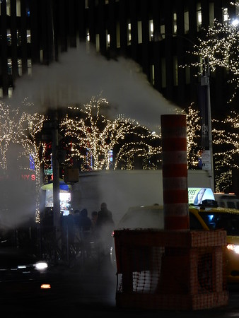 New York City night fog