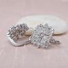 Snowflake-Motif Diamond Earrings 3
