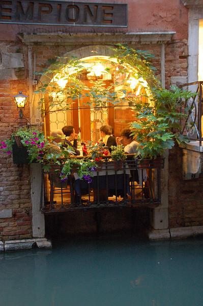 Canal Cuisine--Venice, Italy