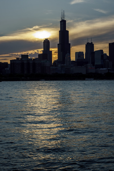 Willis Tower and friends of the lake