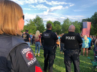 Vigil for Mooresville Police Officer Sheldon