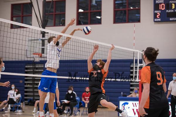 2021-4-22 WHS Boys Volleyball vs Farmington
