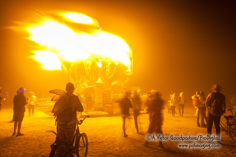Being well prepared with layered clothes, water, goggles and dust mask makes an evening on the playa reasonably comfortable.