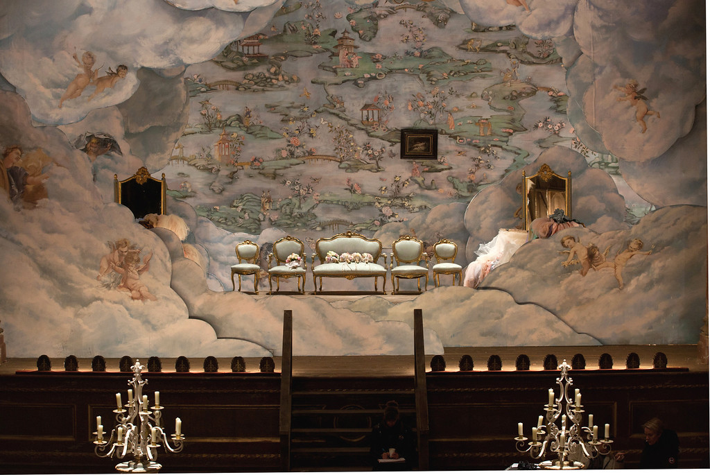 . MOST ROMANTIC WALLPAPER: The cloud-strewn wallpaper inspired by a historical paper in �Anna Karenina� takes top honors in this category. (Laurie Sparham/Focus Features)