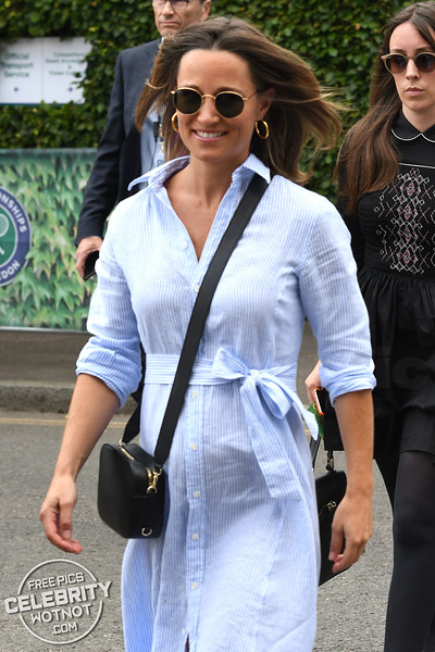 Pippa Middleton Shows Off Bump in Ralph Lauren Shirtdress, London