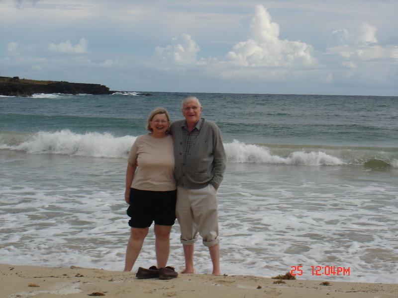 Mac and Julie on Easter Island