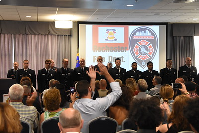 Fire Department holds recruit graduation ceremony. 7/21/2017
