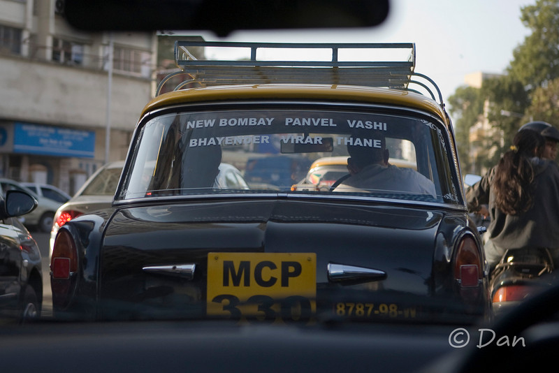 The writing on the back windows says how far the cab is willing to go