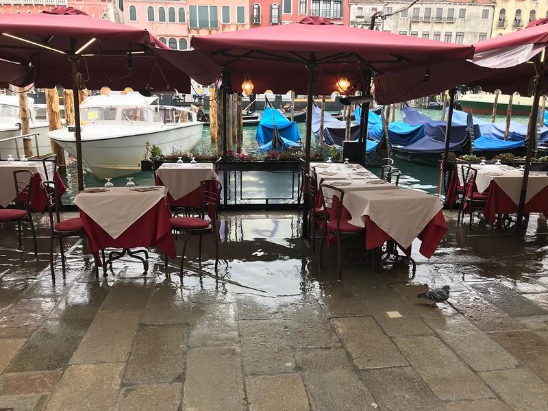 Restaurant alongside the canal.