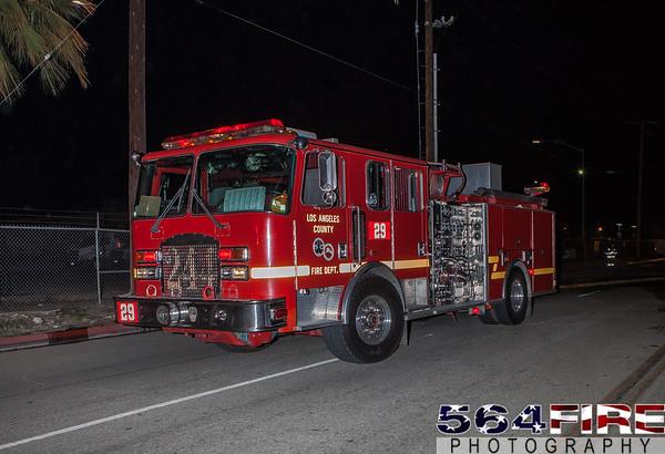 LACoFD - Vincent Incident - 10-23-15 - Commercial Fire