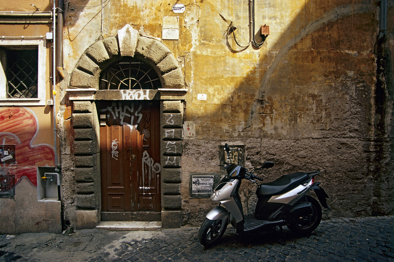 Scooter in Trastevere, Rome (Italy)
