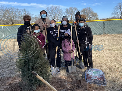 Memorial Tree planting City of Tyler, also to honor Smith County Constable Henry Jackson and former City Councilman Ed Moore. Gallery by John Anderson