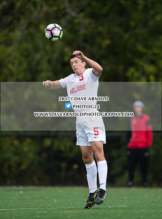 10/26/2017 - Boys Varsity Soccer - Burlington vs Melrose