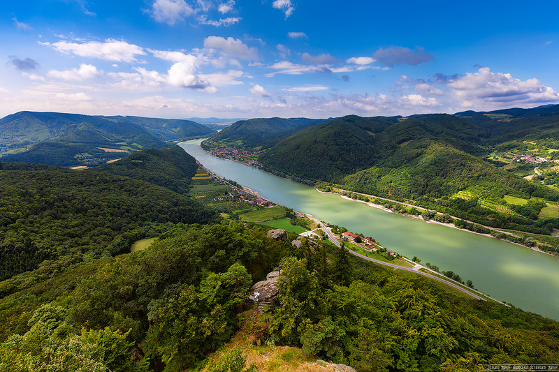 View from the Aggstein castle ruins