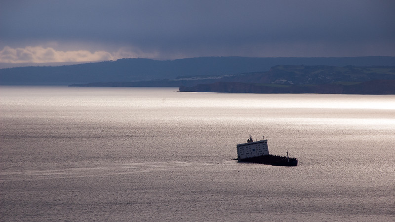 Wreck of the MSC Napoli in Lyme Bay