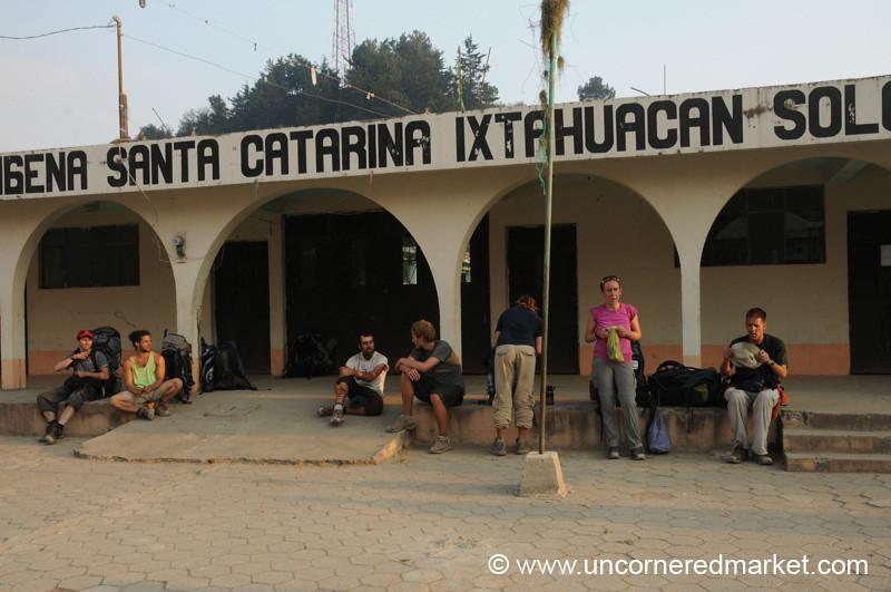 Trekkers Take a Rest - Santa Catarina, Guatemala