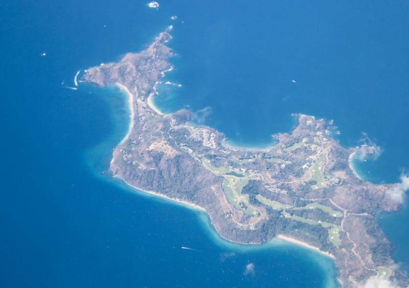 Aerial View of Peninsula Papagayo in Costa Rica