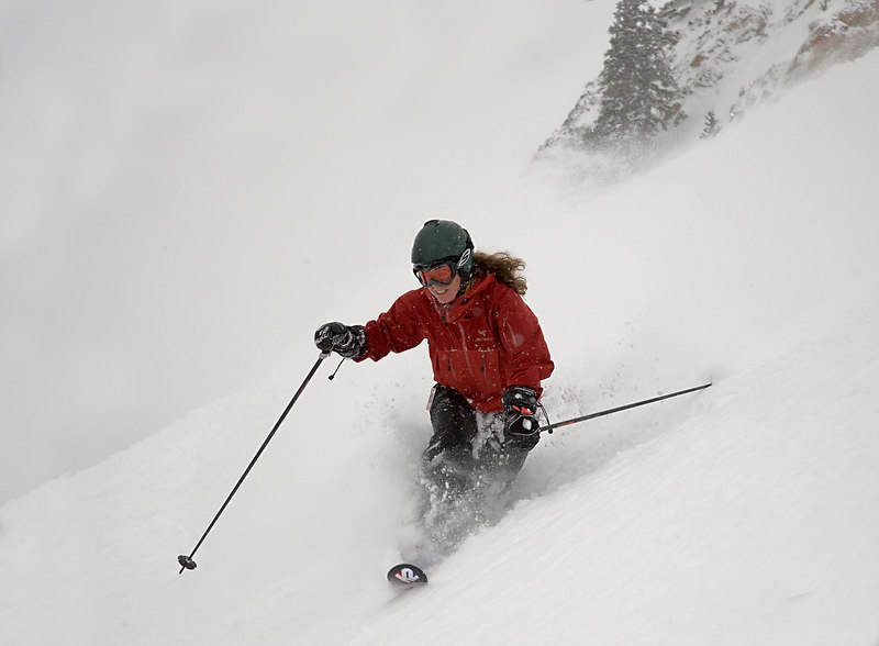 First Tracks in High Notch The backside was close all day yesterday and it snowed a foot before they opened it.  18 March 2006