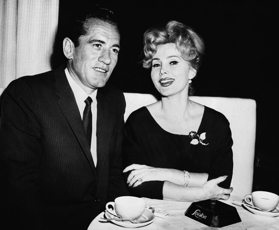 . Bob Straile and Zsa Zsa Gabor have finally decided to get married, and they announced it on Oct. 6, 1961 at Tony Butrico\'s Leoton Club.    They will be married before the end of October 1961.   Straile owns the Palm Beach Athletic Club.   (AP Photo)