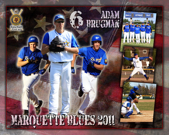 Marquette Blues American Legion Baseball Posters
