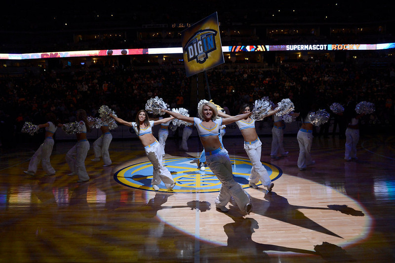 . DENVER, CO. - JANUARY 30: Denver Nuggets dance team during introductions January 30, 2013 at Pepsi Center. The Denver Nuggets take on the Houston Rockets in NBA action. (Photo By John Leyba/The Denver Post)