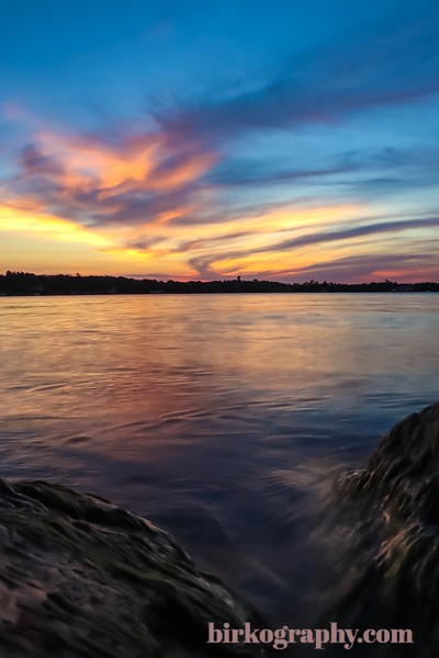 Sunset from Wayzata Bay, Lake Minnetonka, MN