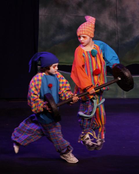 Jack & the Beanstalk, 19 February 2010: Andrew Judd & Lucas Nelson as the Clowns.