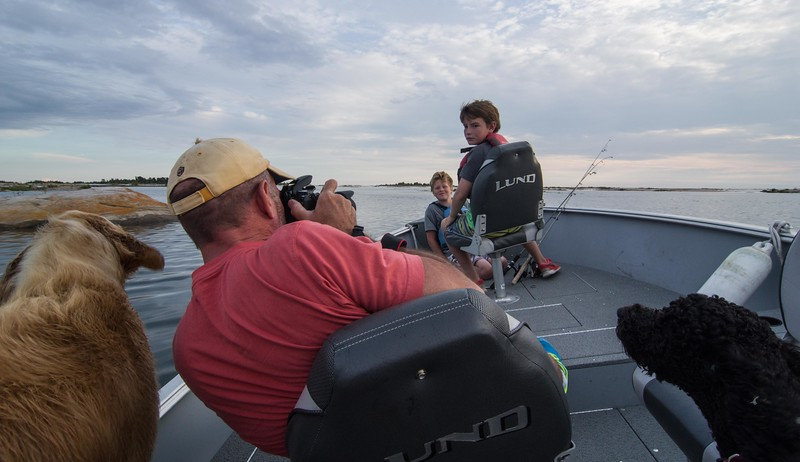 Phil taking picture of son Jack