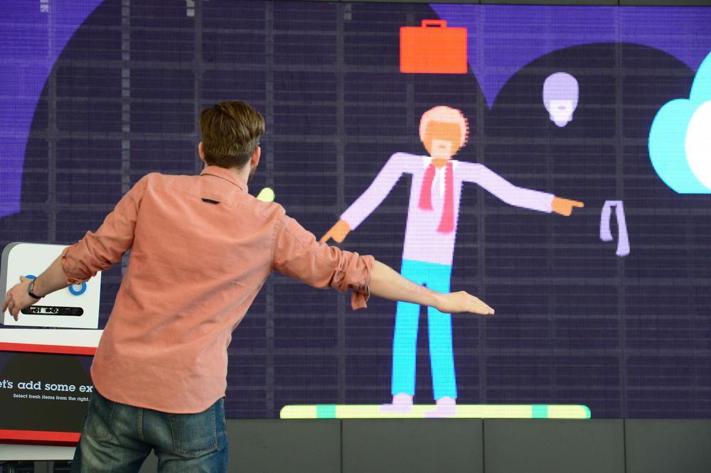 Description of . A man interacts with his avatar at the booth of IBM on the eve of the start of the 2014 CeBIT technology trade fair on March 9, 2014 in Hanover, central Germany. CeBIT will be open March 10-14, 2014. JOHN MACDOUGALL/AFP/Getty Images