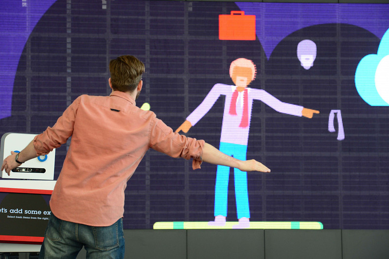. A man interacts with his avatar at the booth of IBM on the eve of the start of the 2014 CeBIT technology trade fair on March 9, 2014 in Hanover, central Germany. CeBIT will be open March 10-14, 2014. JOHN MACDOUGALL/AFP/Getty Images