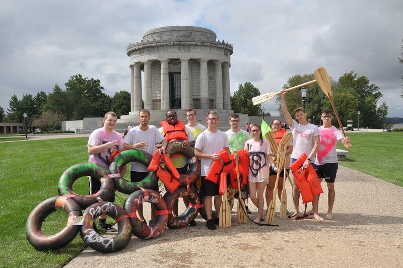 160917 Family Weekend Tube Race teams in front of Clark Memorial (16).JPG