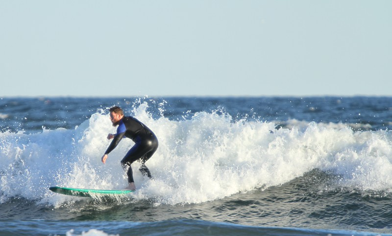 Higgins Beach Surfing - Columbus Day W/E 2015