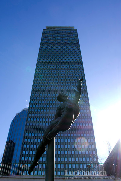 """""""Quest Eternal"""" Statue, Prudential Bldg - Boston"""