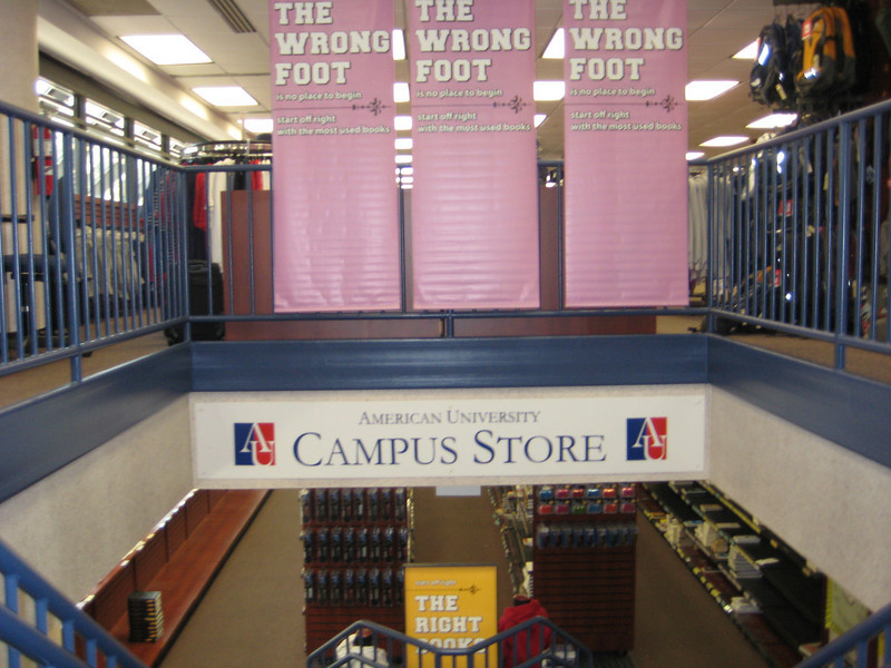 Inside the Campus bookstore.