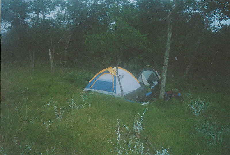 Stealth-camping along the trail above Culvers Gap